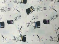 Cotton Jersey Fabric Material UV Colour Changing Light Sun Reactive Magic Rabbit